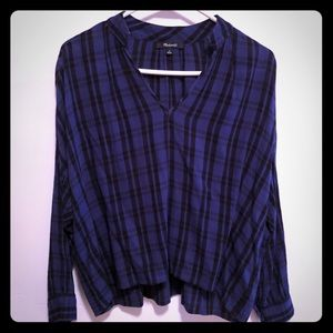 Madewell Wrap-Front Shirt in Arion Plaid